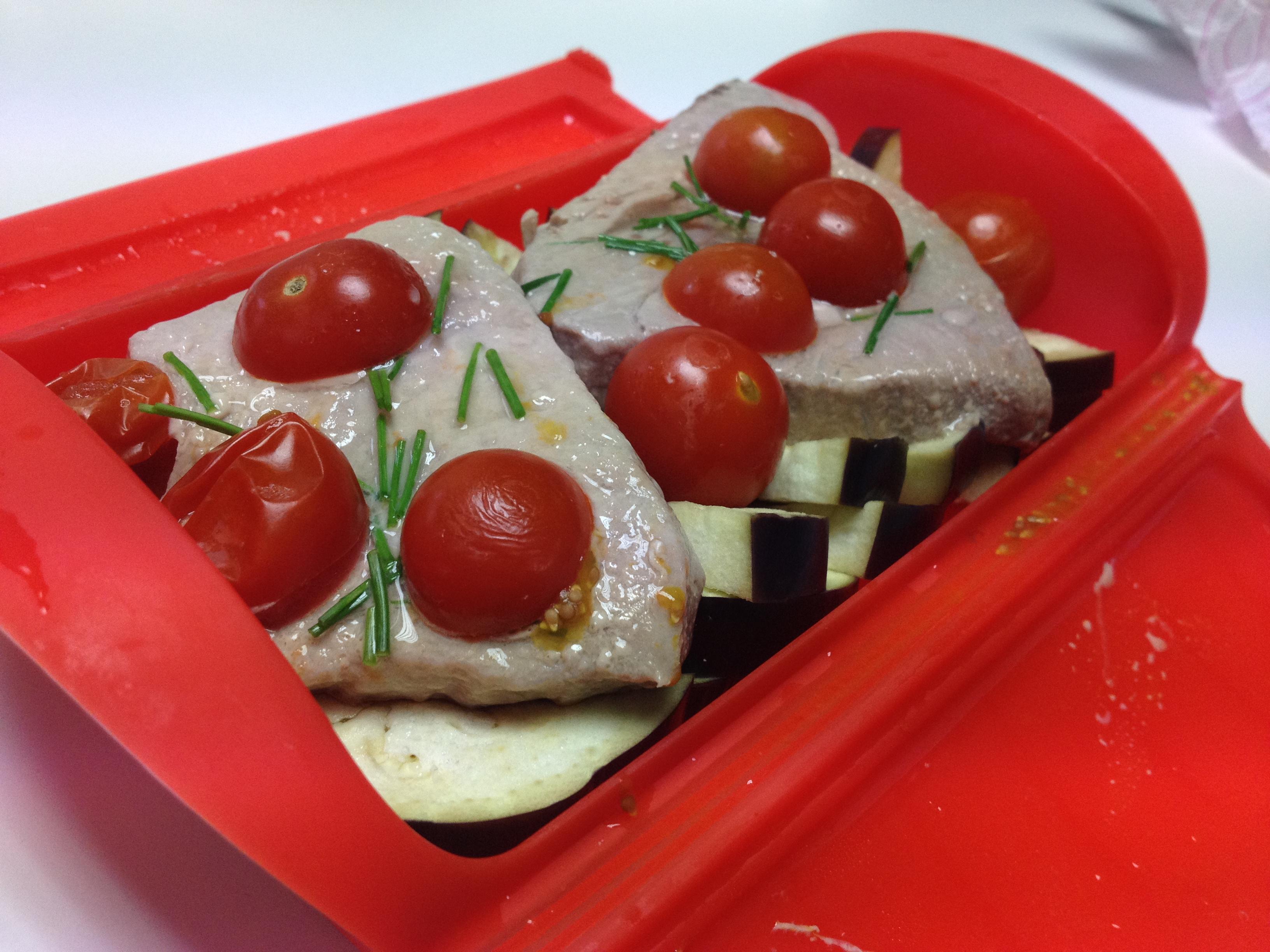 Recetas con lekue cocinando en la oficina cocinando en la oficina con el estuche de vapor de - Cocinar pescado en microondas ...